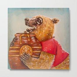 Winnie the Pooh Metal Print