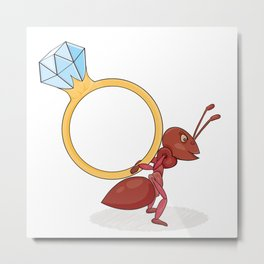 ant with big ring Metal Print