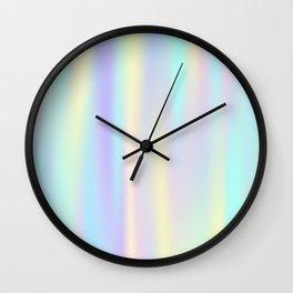 Pastel rainbow abstract Wall Clock