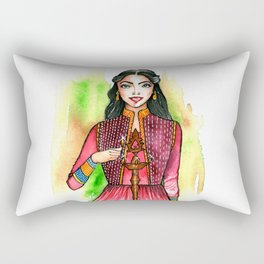 Dwali celebration illustration Rectangular Pillow