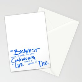 Continue Living Scribbled Insprational Quote Stationery Cards