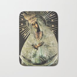 Our Lady Gate of Dawn Virgin Mary of Sharp Gate Madonna without Child Christmas Gift Religion Art Bath Mat