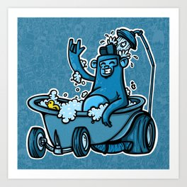 gorilla hotrod Art Print