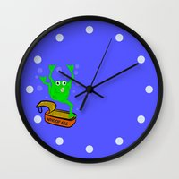 frog Wall Clocks featuring Frog by mailboxdisco