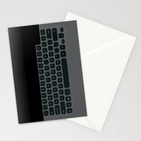 Brushed Metal Keyboard Stationery Cards
