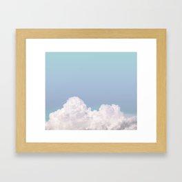 Hazey Blue Framed Art Print