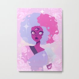 Cotton Candy Garnet  Metal Print