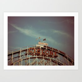 Coney Island Cyclone Art Print