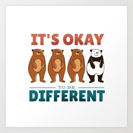 Different Bears Quote Art Print
