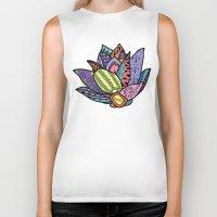lotus flower Biker Tanks featuring Lotus by Ilse S