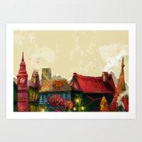 cities Art Prints featuring Cities by Elisa Gandolfo