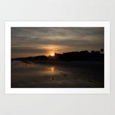 Sunset on Fripp Island Art Print