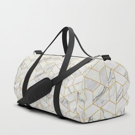 Marble hexagonal pattern Duffle Bag