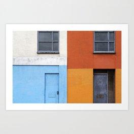 White Red Blue Orange Art Print