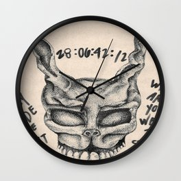 Frank the Bunny Wall Clock