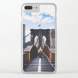 New York 13 Clear iPhone Case