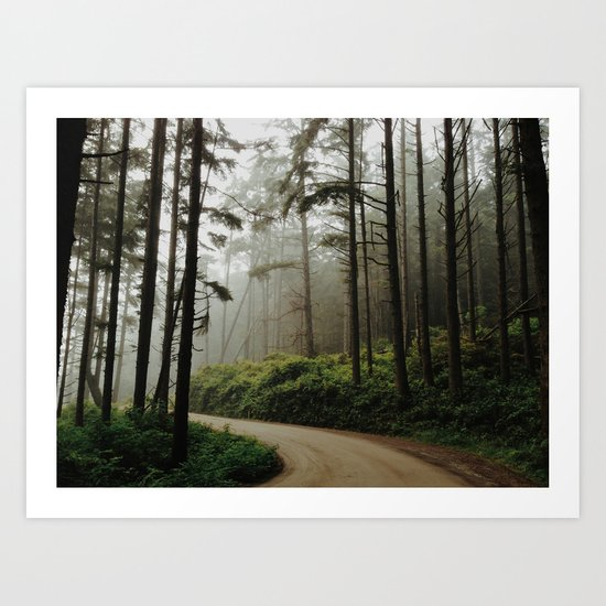 Prairie Creek Road Art Print