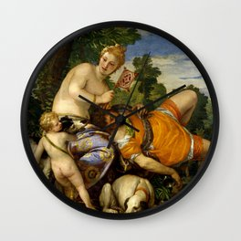 "Veronese (Paolo Caliari) ""Venus and Adonis"" Wall Clock"