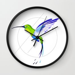 Under the Sign of Colibri Wall Clock