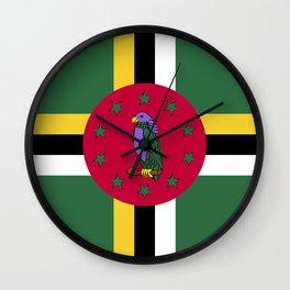 Dominica flag emblem Wall Clock