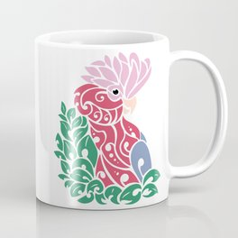 Galah cockatoo tribal tattoo pink rose-breasted aussie parrot Coffee Mug