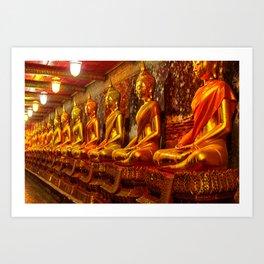 Wat Suthat or the Giant Swing temple Art Print