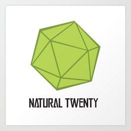 Natural Twenty: Game Logo Art Print