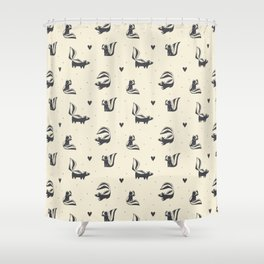 Sweet Skunks Shower Curtain