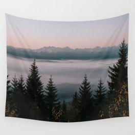 Faraway Mountains - Landscape and Nature Photography Wall Tapestry