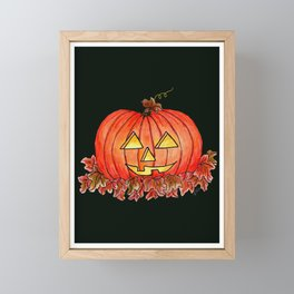 Jack-o-Lantern Night Framed Mini Art Print