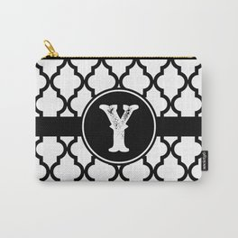 Black Monogram: Letter Y Carry-All Pouch
