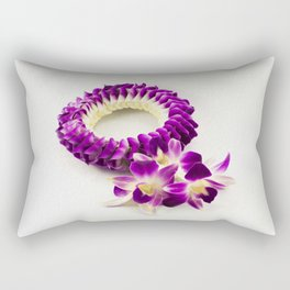 Orchid flower garland (It's called Malai in Thai), paint effect illustration Rectangular Pillow