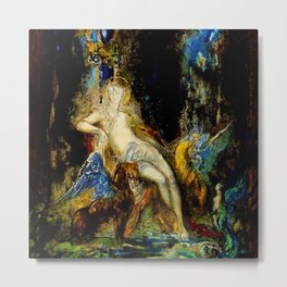 "Gustave Moreau ""La fée aux Griffons (The Fairy with Griffons)"" Metal Print"