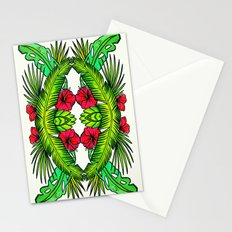 Palm Leaves and Hibiscus Stationery Cards
