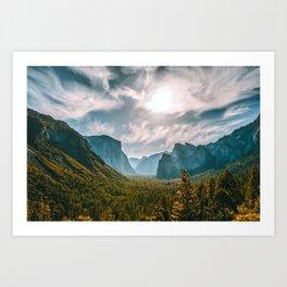 Tunnel View at Yosemite (USA) Art Print