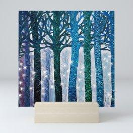 The forest of fireflies Mini Art Print