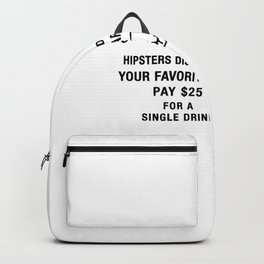 Hipster Monopoly Backpack