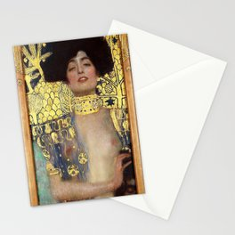 12,000pixel-500dpi - Gustav Klimt - Judith1 - Digital Remastered Edition Stationery Cards