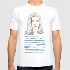 Sea girl SMALL Mens Fitted Tee White