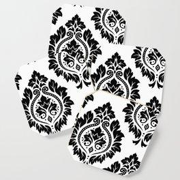 Decorative Damask Art I Black on White Coaster