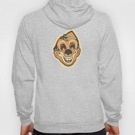Retro Creepy Halloween Clown Face Mask Hoody