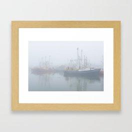 Ships in Fog Framed Art Print