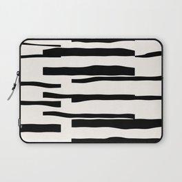 Organic No. 13 Black & Off-White #minimalism #decor #society6 Laptop Sleeve