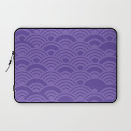 Ultra Violet Color of the Year 2018 Seigaiha seigainami wave of the sea abstract scales Laptop Sleeve