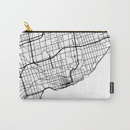 TORONTO CANADA BLACK CITY STREET MAP ART Carry-All Pouch