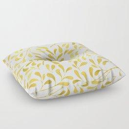 Golden Leaves Floor Pillow