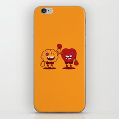 Brain vs. Heart iPhone & iPod Skin