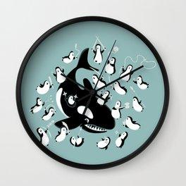 Payback Penguins Wall Clock