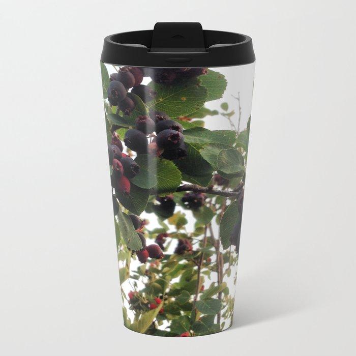 Beautiful Wild Berries Metal Travel Mug