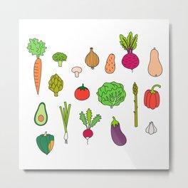 Veggie Wedgie Metal Print